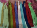 Lot 10 Color Fold Over Elastic Headbands Knotted Free Shipping
