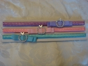 lot 3pc fancy elastic stretch headband apple rhinestone