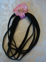 lot 6 pcs black flat elastic headband 3/8  wide