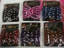 Lot 6 Rhinestone beaded stretch hair clip multi-color