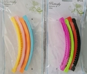 lot 8 simple plastic banana hair clip 8 bright colors
