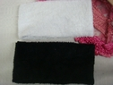 LOT HEADBAND STRETCH 1 Black, 1 White Terry Cloth Spa