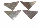 lot of 6 iron on triangle silver small square sequins