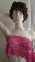Magenta wide stretch double scalloped lace trim 8 inch