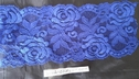 Neon coral  royal blue or pink rose stretch scalloped trim 3.5