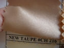New Taupe charmeuse fabric