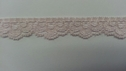 PALE PINK scalloped stretch narrow wide lace trim 5/8 S 1-8