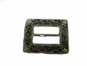Plastic Silver Look Rectangle Buckle 2 3/4 x 2 1/4