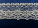 Poly Lace  White Floral Scalloped Trim 1 1/4 L 6-1