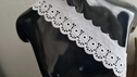 Pure white Cotton Eyelet Scalloped Floral Trim 3 inch