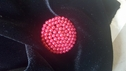 Red Beaded Button Self Shank Button 29 mm 1 1/4 inches or 45 lg