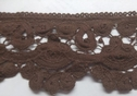 Red Or brown Venice lace trim double scalloped trim 3 inch