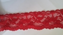 Red stretch lace trim double scalloped 2 1/4 S 3-2