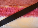 Roll 50y Black gross grain ribbon 100% polyester 7/8  wide