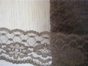 Roll wholesale 100 yards  brown scalloped lace trim