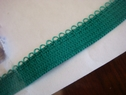 roll wholesale 330 elastic edge picot green 3/8 inch