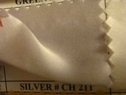 Silver charmeuse fabric