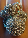 stretch fashion silver tone ring clear rhinestone free shipping
