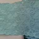 Stretch Turquoise Scalloped Lace Trim 5 1/4 S6-5