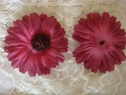 Sunflower burgundy silk flower applique