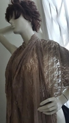 Taupe Floral Stretch Lace 2 ways Fabric 59 Inch Great For Evening
