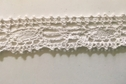 White Crochet Scalloped galloon  Lace trim 1 1/4 Inch