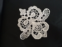 White Diamond shaped floral  Venise applique