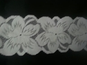White Floral Stretch SHINY Lace Trim 2 7/8 Inch Wide Double Scalloped Trim S5-1