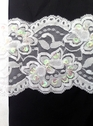 White Floral Stretch Sequin Scalloped Lace Trim 3 3/4 inch