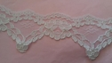 White re embroidered BRIDAL lace double scalloped lace trim 2 1/2 L 6-2