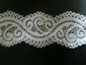 White Soft Double Scallop Stretch Lace Trim 1 5/8 IN S 9-5