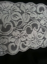 white stretch floral double scalloped lace wide trim 5.5 S7-1