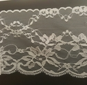 White Wide Scalped Floral Lace Trim 4.5 In