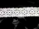 Wholesale 100 yards white stretch insert lace trim 1 1/8 S1-11