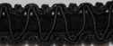 Wholesale 50 Yards Black gimp trim with black velvet insert 1/2