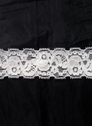 Off  White floral stretch lace trim 1 1/2 in S6-7