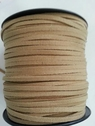 wholesale roll 100 yards beige faux suede flat cord great for jewelry making