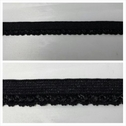 Wholesale roll 100 yards black picot edge elastic 7/16 inch