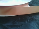 wholesale roll 100 yards peach color polyester satin ribbon 7/8inch