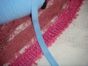 Wholesale roll 200 yard sky blue FOE fold over elastic 5/8 inch wide