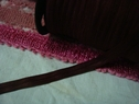 Wholesale Roll 200 yards Dark Burgundy FOE Fold Over Elastic 5/8 inch wide
