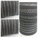 wholesale roll of 100 yards black and silver picot elastic trim 1/2 inch wide