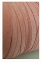 wholesale roll of 100 yards dusty rose fold over elastic trim 5/8 inch wide.