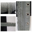 wholesale roll of 100 yards gray grommet eyelet trim 1 1/4 inch wide.