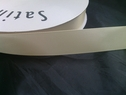 wholesale roll of 100 yards of beige polyester satin ribbon 7/8inch