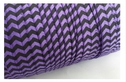 wholesale roll of 100 yards of regal purple with black fold over elastic trim 5/8 inches wide.