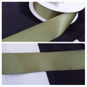 wholesale roll of 50 yards of this olive satin ribbon trim 1 1/2 inches wide.