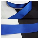 wholesale roll of 50 yards of this royal blue satin ribbon trim 1 1/2  inches wide.