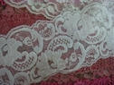 Wholesale White stretch lace double scalloped trim 3 inch wideS3-5