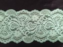 Wide stretch sea green double scalope dlace trim 5 inch S6-1
